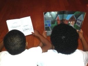Kids reading.