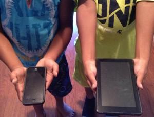 Kids using technology.
